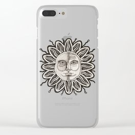 Black Sun Clear iPhone Case