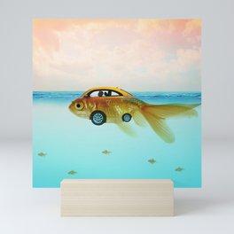 Goldfish Submarine Mini Art Print