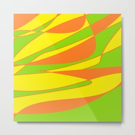SUMMER SWIRL Metal Print