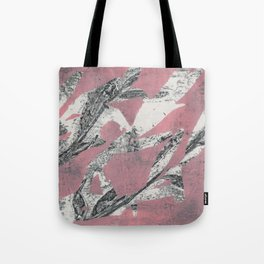 Pink Leaves Abstract Tote Bag