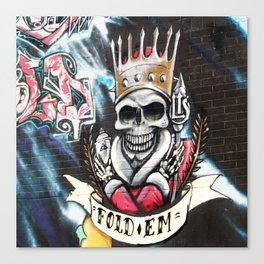 Las Vegas Skull Graffiti Canvas Print