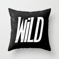into the wild Throw Pillows featuring Wild by Josh LaFayette