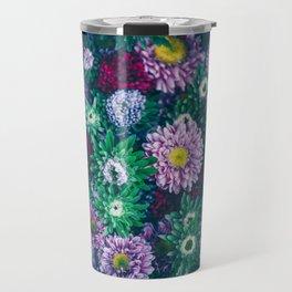 Dark moody floral background Travel Mug
