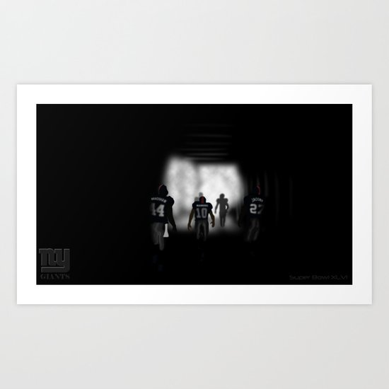 NY Giants Super Bowl XLVI Art Print