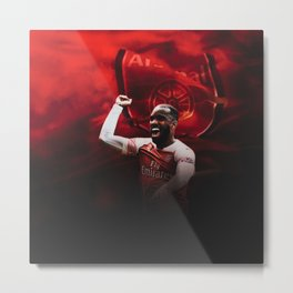 Alexandre Lacazette Celebration Metal Print