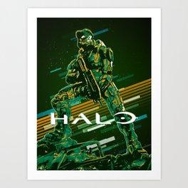 Halo retro art Art Print