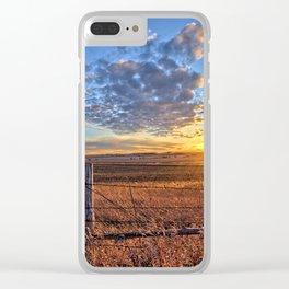 Sunset Fenceline 2 Clear iPhone Case