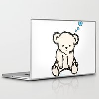 teddy bear Laptop & iPad Skins featuring Teddy by RaJess
