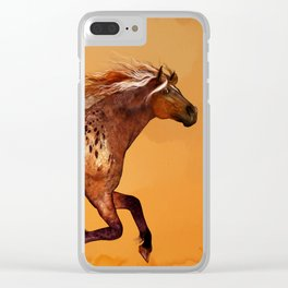 HORSE - An Appaloosa called Ginger Clear iPhone Case