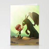 how to train your dragon Stationery Cards featuring How to Train Your Dragon Fan Art by Daniel Jervis Art