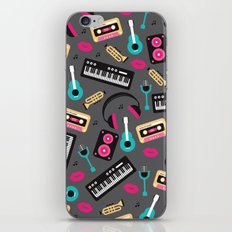 Jazz music instruments and sounds pattern iPhone & iPod Skin