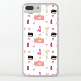 La Femme Clip Art Pattern Clear iPhone Case