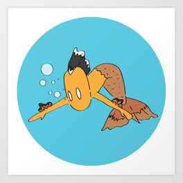 Corwin the mermaid Art Print