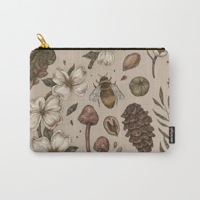 Nature Walks (Light Background) Carry-All Pouch