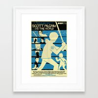 scott pilgrim Framed Art Prints featuring Scott Pilgrim Vs The World by Mark Welser