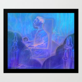 The Man with Power Art Print
