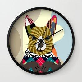Fox Squirrel Wall Clock