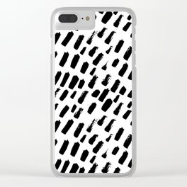 Brush Marks Clear iPhone Case