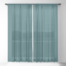 Behr Tsunami (Dark Aqua Blue Green) S450-7 Solid Color Sheer Curtain