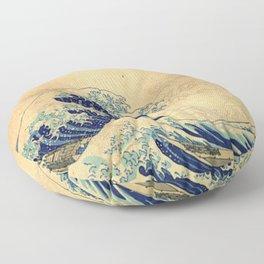 Hokusai parchment Floor Pillow