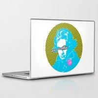 beethoven Laptop & iPad Skins featuring Ludwig van Beethoven 14 by Marko Köppe