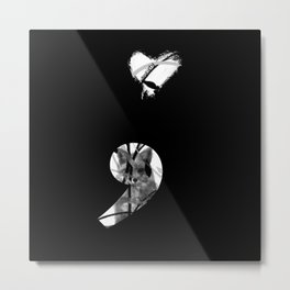 Hidden Anxiety Metal Print