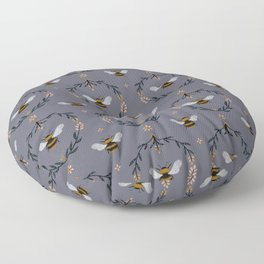Ode to the Bumblebee (in lavender) Floor Pillow