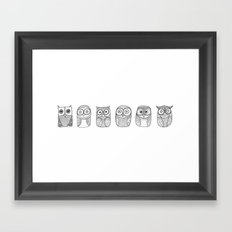Six Pack (owl collective) Framed Art Print