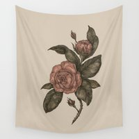 roses Wall Tapestries featuring Roses by Jessica Roux