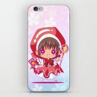 chibi iPhone & iPod Skins featuring Chibi Sakura by Neo Crystal Tokyo