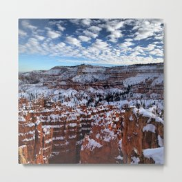 Bryce Canyon National  Park in Winter Metal Print