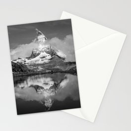 Cloudy Matterhorn B&W Stationery Cards