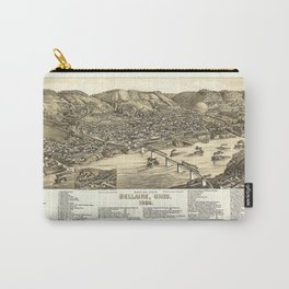 Bird's Eye View of Bellaire, Ohio (1882) Carry-All Pouch
