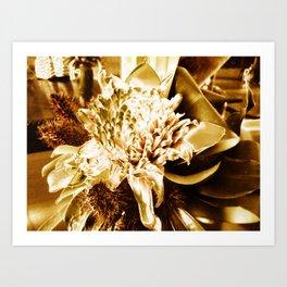 Golden Flower Art Print