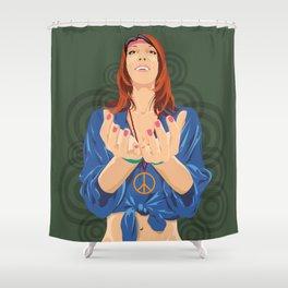Hippy Girl  Shower Curtain