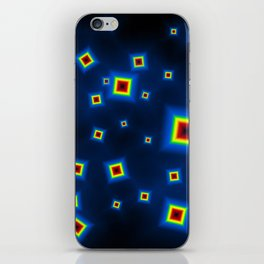 Pattern of disorganized multicolored paintings iPhone Skin