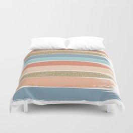Mariko - Brushstroke, Painterly, painted, paint, summer, 70s colors  Duvet Cover