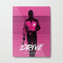 Drive art movie inspired Metal Print