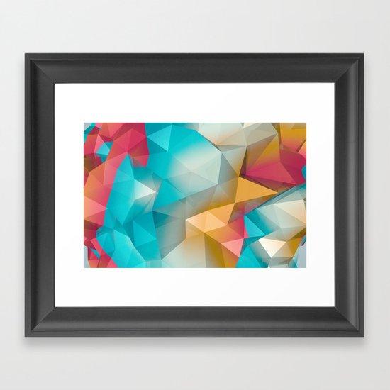 Land Sphere Framed Art Print