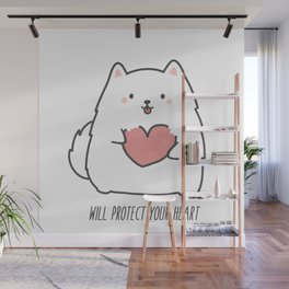 Fluff will Protect Your Heart Wall Mural