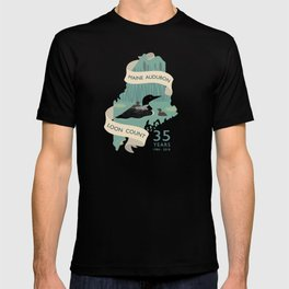 Maine Audubon Loon Count 35 Years T-shirt