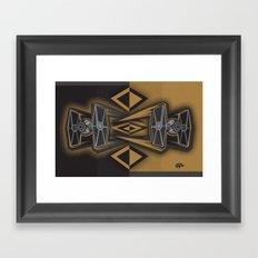 Golden Fighters Framed Art Print