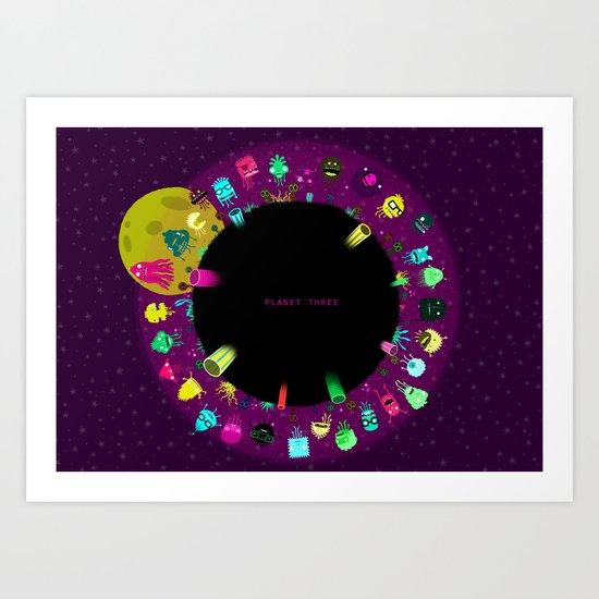 Planet Three Art Print
