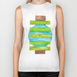 180818 Geometrical Watercolour 5 Biker Tank