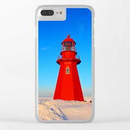 Lighthouse  and Frozen Sea Clear iPhone Case