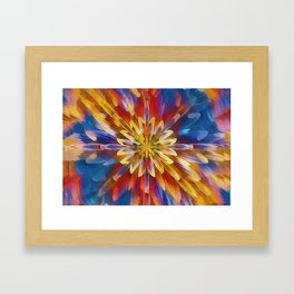 Color Flow Abstract Framed Art Print