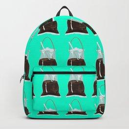 takeaway coffee pattern, mint Backpack