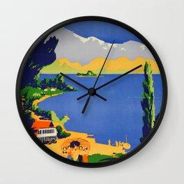 Wanaka Vintage Travel Poster Wall Clock