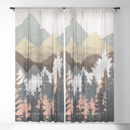 Forest View Sheer Curtain