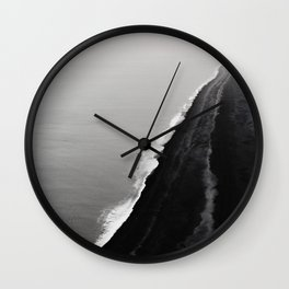 BLACK SAND BEACH Wall Clock
